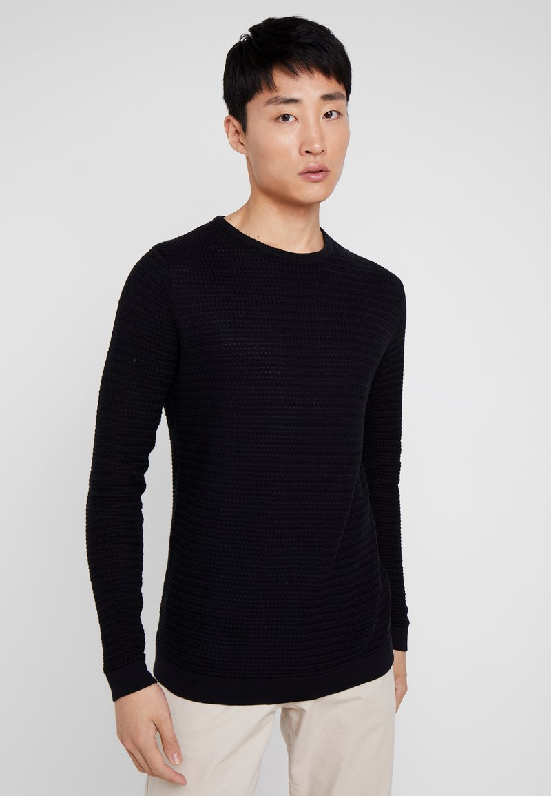 Solid - SHAD ONECK - Sweter - black