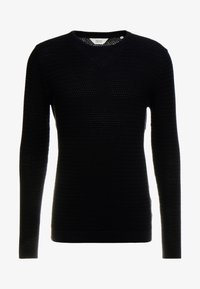 Solid - SHAD ONECK - Sweter - black - 3