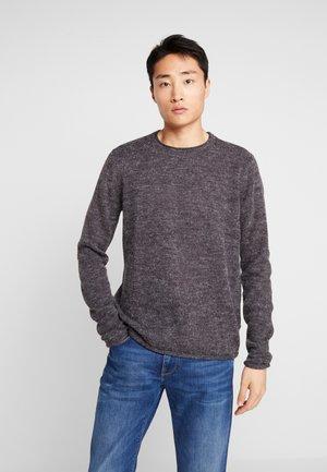 FRASER O-NECK - Jersey de punto - dark grey melange