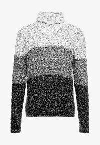 Solid - FAROL SHAWL COLLAR - Neule - black/ white/ grey - 4