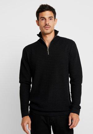 SHAD HALF ZIP - Pullover - black