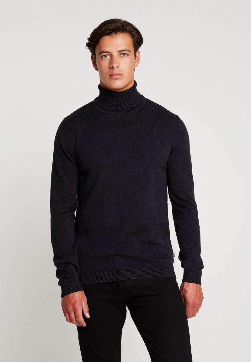 Solid - DRAPER ROLLNECK - Jersey de punto - black