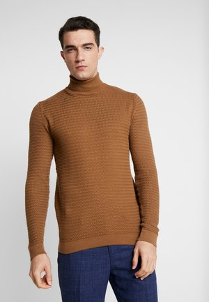 SHAD ROLLNECK - Pullover - sepia