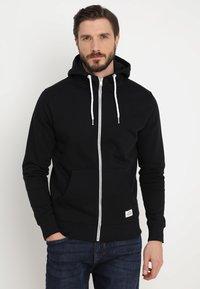 Solid - MORGAN ZIP - Zip-up hoodie - black - 0