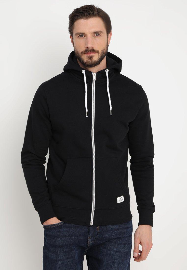 Solid - MORGAN ZIP - Zip-up hoodie - black