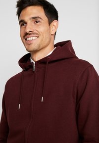 Solid - MORGAN ZIP - Zip-up hoodie - wine - 3