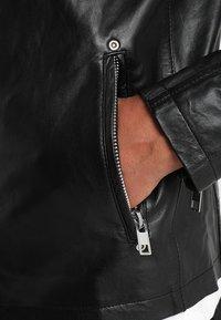 Solid - TOPPER - Veste en cuir - black - 5