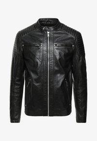 Solid - TOPPER - Veste en cuir - black - 4