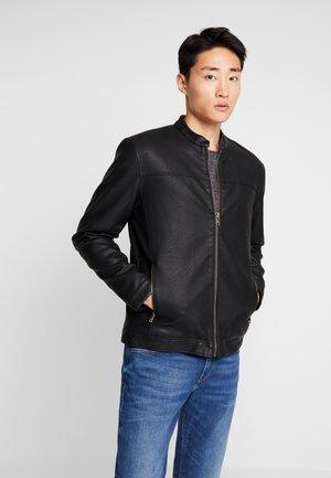JACKET DORBAN - Leather jacket - black