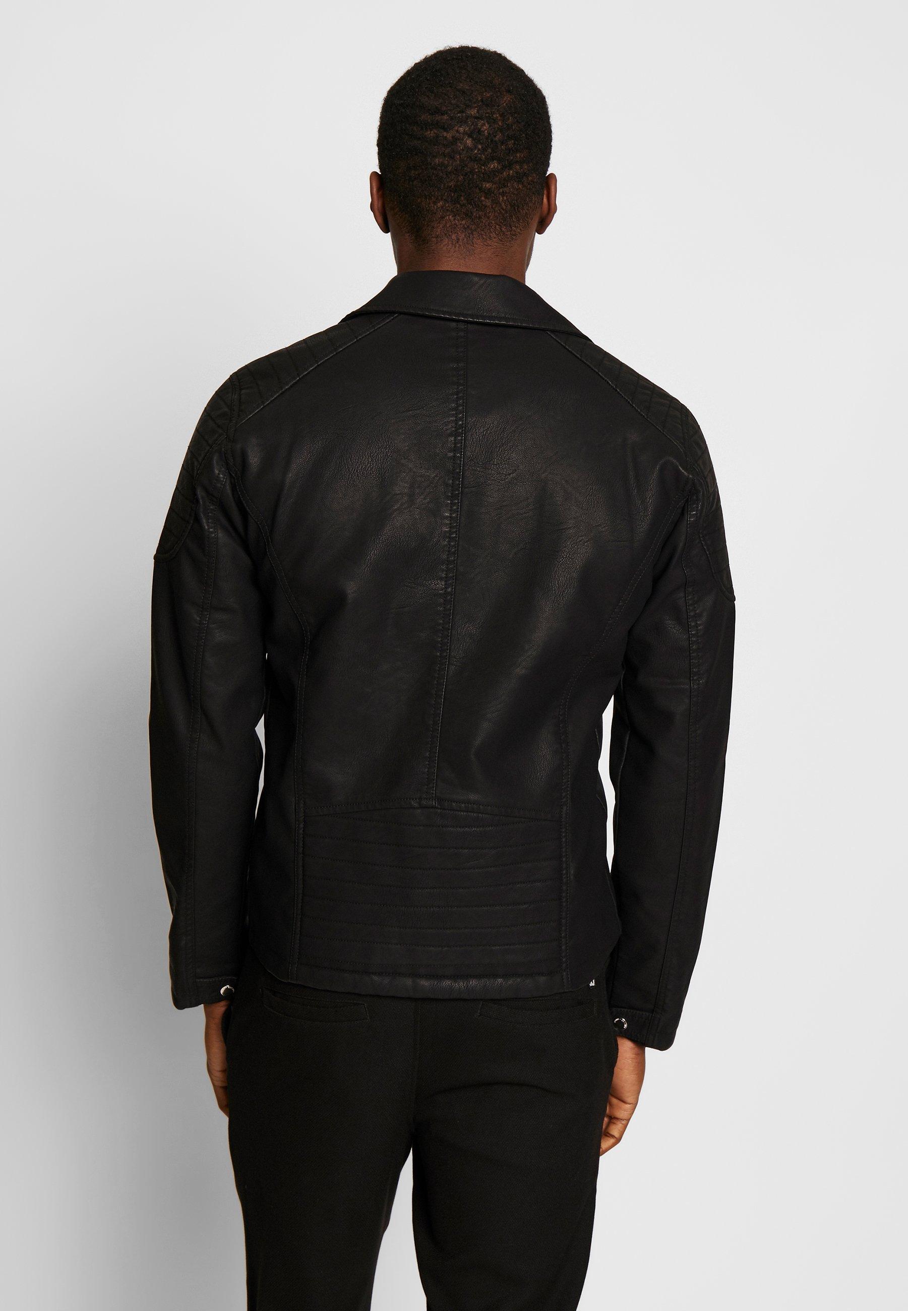Solid JACKET HYMAN - Kurtka ze skóry ekologicznej - black