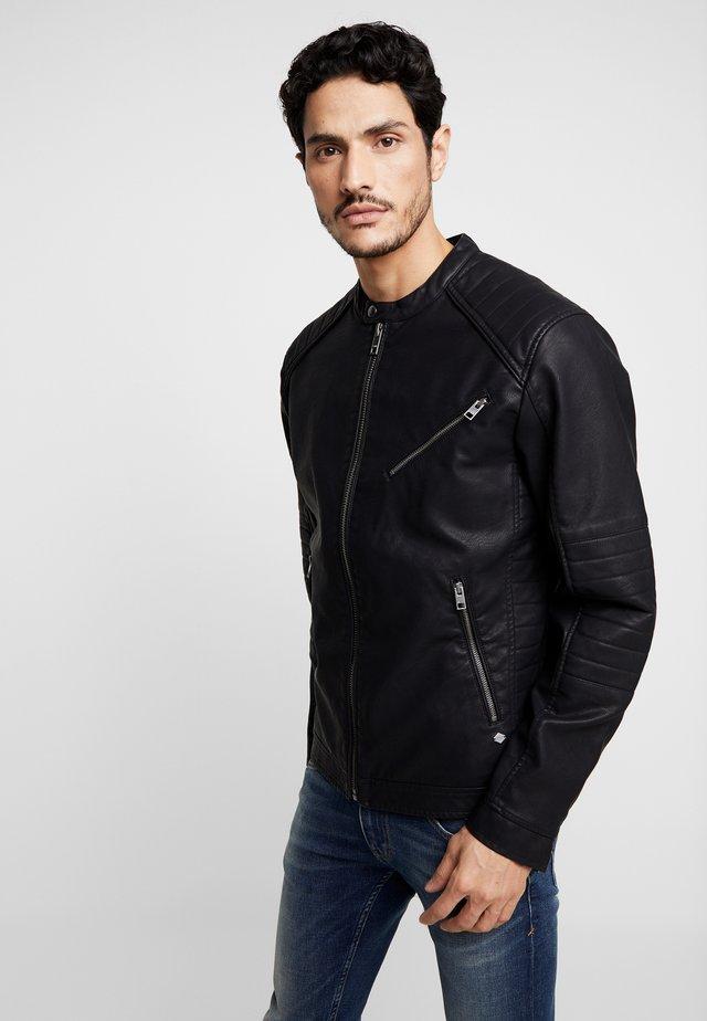 JACKET HARLOW - Faux leather jacket - black