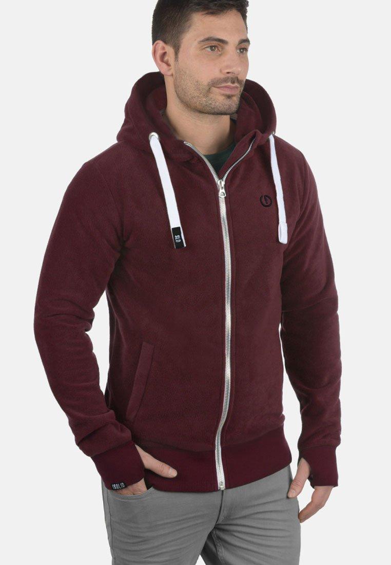 Solid - LOKI - Fleece jacket - wine red