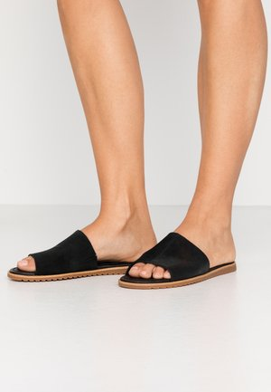 ELLA BLOCK SLIDE - Pantofle - black