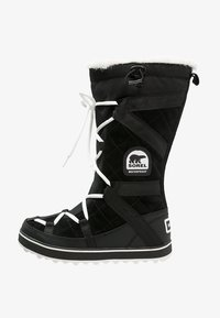 Sorel - GLACY EXPLORER - Zimní obuv - black - 1
