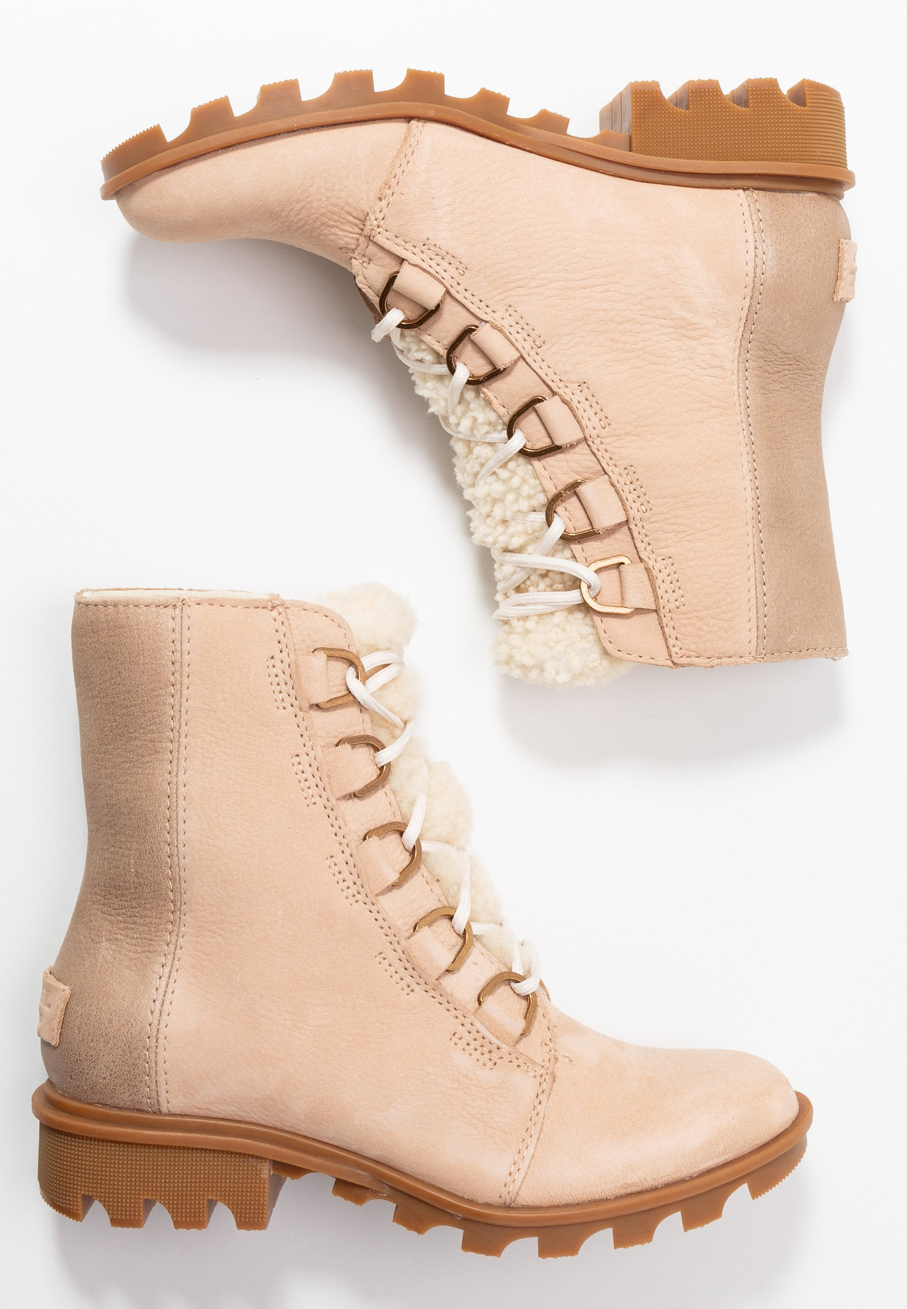 Sorel Phoenix Short Lace Lux - Snørestøvletter Natural Tan