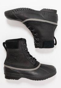 Sorel - CHEYANNE II - Šněrovací kotníkové boty - black - 1