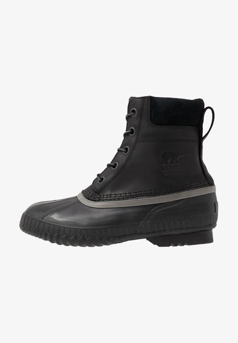 Sorel - CHEYANNE II - Šněrovací kotníkové boty - black
