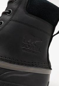 Sorel - CHEYANNE II - Šněrovací kotníkové boty - black - 5