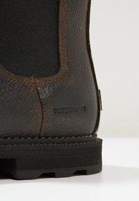 Sorel - MADSON CHELSEA - Šněrovací kotníkové boty - tobacco/black - 5