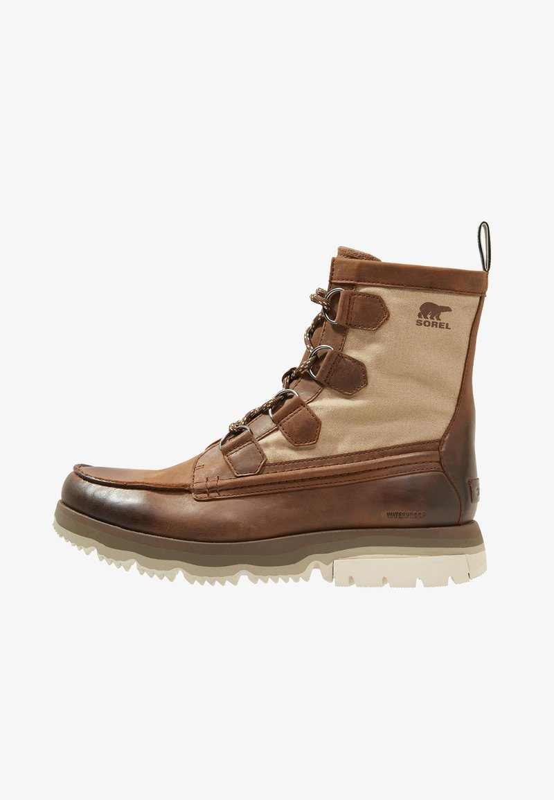 Sorel - ATLIS CARIBOU - Lace-up ankle boots - tobacco/dark stone