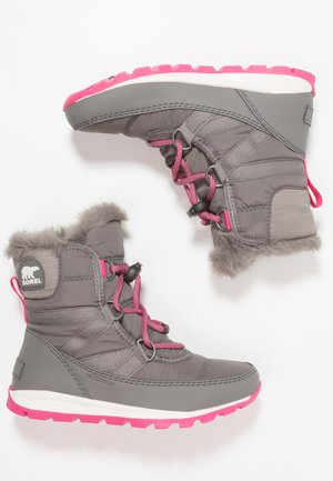 WHITNEY SHORT LACE - Lace-up ankle boots - grey