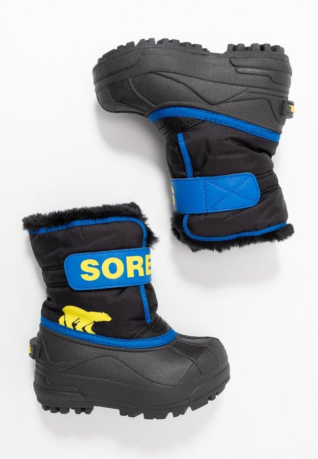CHILDRENS - Snowboots  - black/super blue