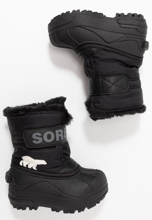 CHILDRENS - Snowboots  - black/charcoal