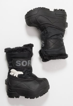 CHILDRENS - Snowboots  - black/charcoal