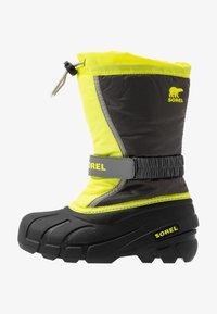Sorel - YOUTH FLURRY - Winter boots - dark grey/warning yellow - 1