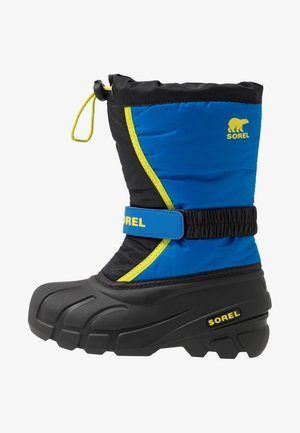 YOUTH FLURRY - Snowboots  - black/super blue