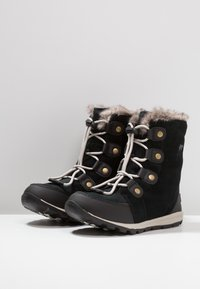 Sorel - YOUTH WHITNEY - Lace-up ankle boots - black/dark stone - 3
