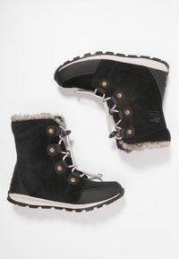 Sorel - YOUTH WHITNEY - Lace-up ankle boots - black/dark stone - 0