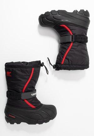 YOUTH FLURRY - Zimní obuv - black/bright red