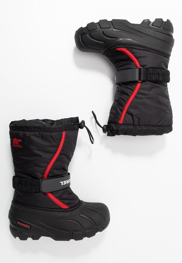 YOUTH FLURRY - Talvisaappaat - black/bright red