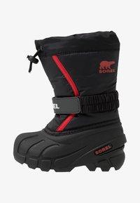 Sorel - YOUTH FLURRY - Zimní obuv - black/bright red - 1