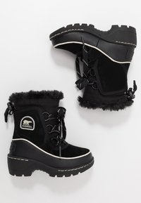Sorel - CHILDRENS TORINO III - Schnürstiefelette - black/light bisque - 0