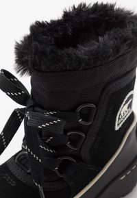 Sorel - CHILDRENS TORINO III - Schnürstiefelette - black/light bisque - 2