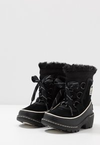 Sorel - CHILDRENS TORINO III - Schnürstiefelette - black/light bisque - 3