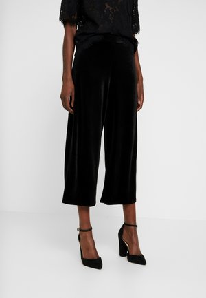 POPPY - Trousers - black