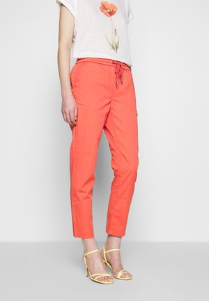 SAMIRA - Trousers - dark coral
