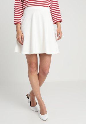 DENA SOLID - A-line skirt - off-white