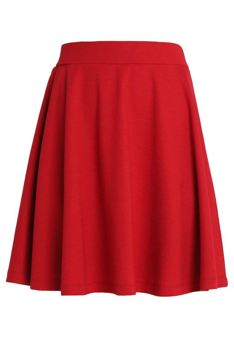 Soyaconcept DENA SOLID - Spódnica trapezowa - ruby red
