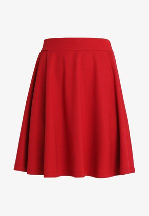 DENA SOLID - A-line skirt - ruby red