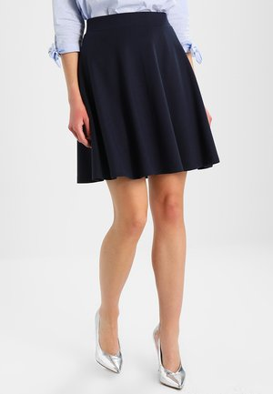 DENA SOLID - A-line skirt - dark blue