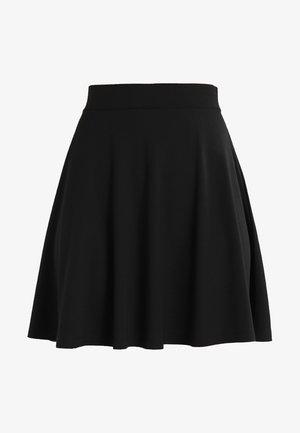 DENA SOLID - A-line skirt - black