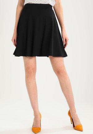 DENA SOLID - A-snit nederdel/ A-formede nederdele - black