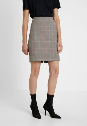 BELLA - Pencil skirt - cabernet combi