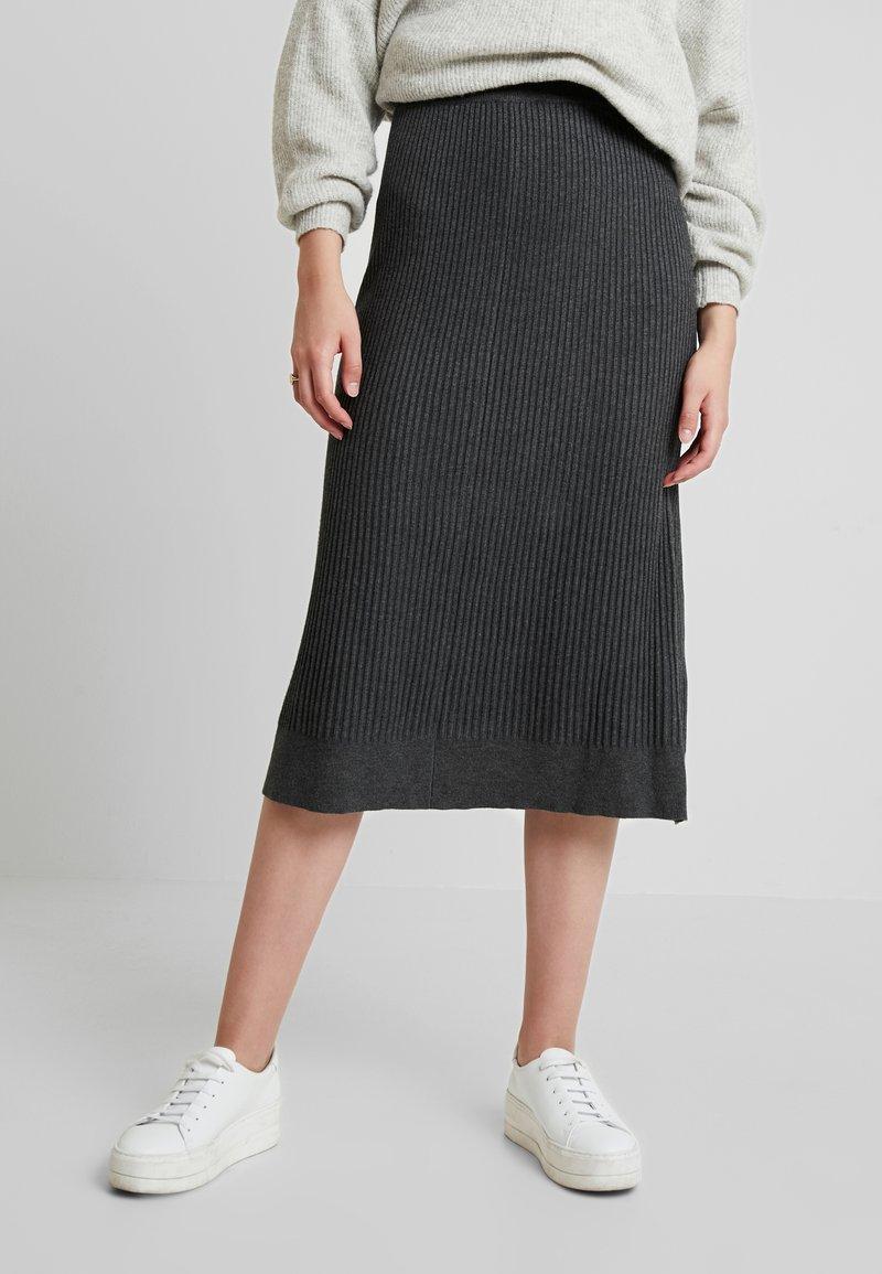 Soyaconcept - DOLLIE - Áčková sukně - dark grey melange