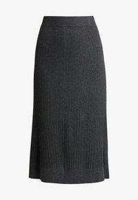 Soyaconcept - DOLLIE - Spódnica trapezowa - dark grey melange - 3