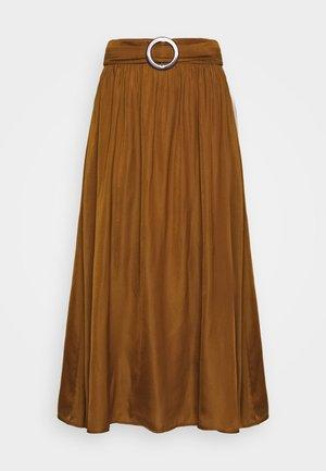 SC-PAMELA 26 - Áčková sukně - dark caramel